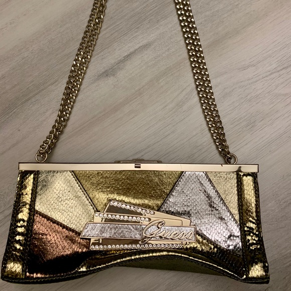 Guess Handbags - Multi-Color (Silver, Chrome, Gold) Guess Purse